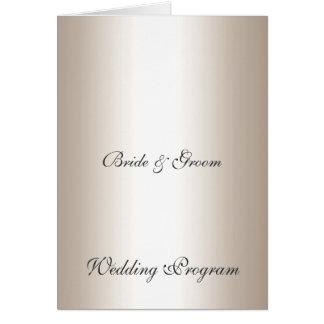 Programa de la bodas de plata tarjeta