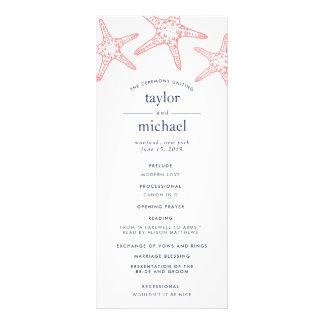 Programa de la ceremonia de boda de las estrellas