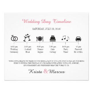 Programa de la cronología del boda del icono