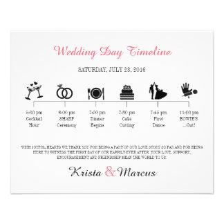 Programa de la cronología del boda del icono folleto 11,4 x 14,2 cm