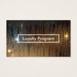 programa de la lealtad de la lluvia del otoño tarjeta de negocios