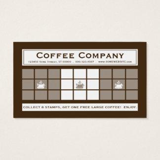 Programa de la lealtad del CAFÉ 3dots Tarjeta De Negocios