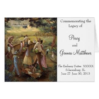 Programa de la reunión de familia tarjeta de felicitación