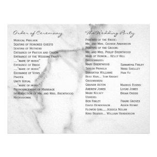 Programa de mármol elegante del boda