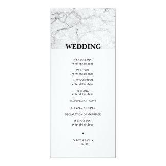 Programa de mármol moderno del boda