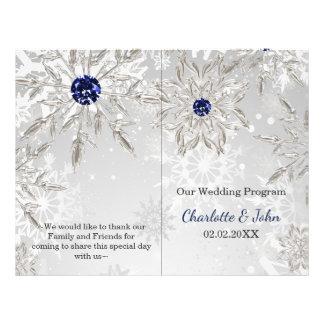 programa de plata del boda del invierno de los folleto 21,6 x 28 cm