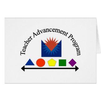 Programa del adelanto del profesor tarjeta de felicitación
