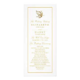 Programa del boda de la mariposa del brillo del diseño de tarjeta publicitaria