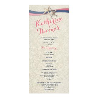 Programa del boda de las estrellas de mar y de
