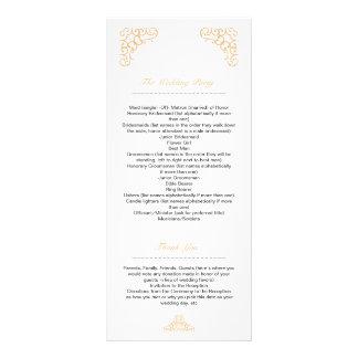 Programa del boda de oro