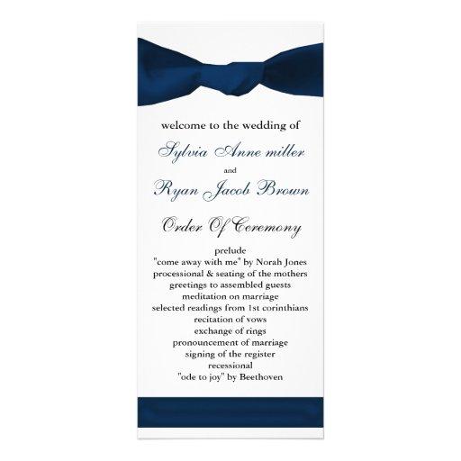 programa del boda del arco de los azules marinos tarjeta publicitaria