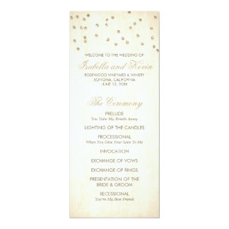Programa del boda del confeti de la mirada del invitación 10,1 x 23,5 cm