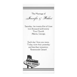 Programa del boda del destino de Las Vegas Lona Personalizada