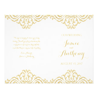 Programa del boda del doblez de la elegancia del folleto 21,6 x 28 cm