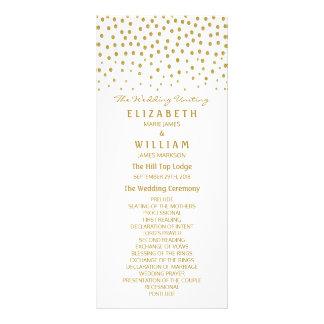 Programa del boda del lunar del oro tarjeta publicitaria a todo color