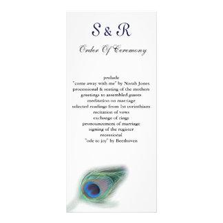 programa del boda del pavo real lonas publicitarias