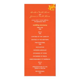 Programa del boda del tango del verano invitación 10,1 x 23,5 cm