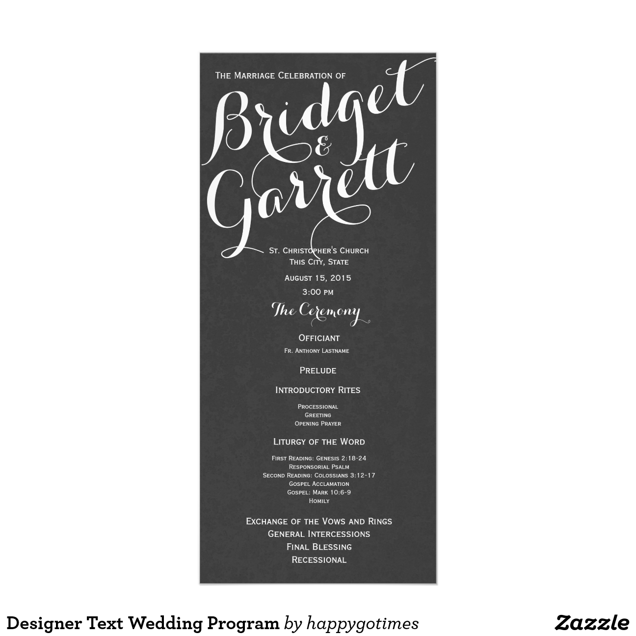 Texto programa de la boda