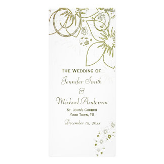 Programa del boda para el verde y el boda simple lona publicitaria