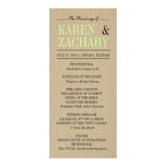 Programa del boda plantilla de lona