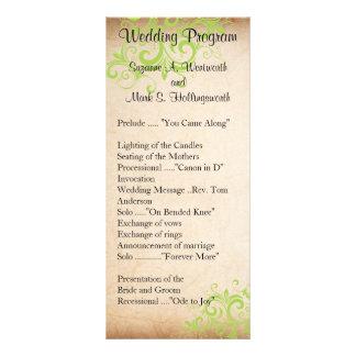 Programa del boda - verde tarjetas publicitarias personalizadas