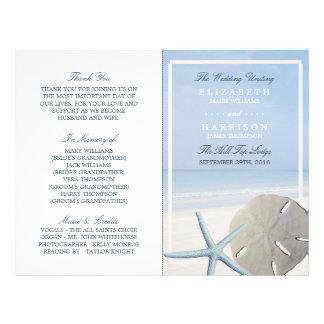 Programa del dólar de arena y del boda de playa de folleto 21,6 x 28 cm