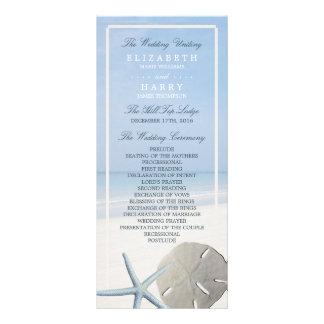 Programa del dólar de arena y del boda de playa de folleto publicitario 10 x 22,8 cm