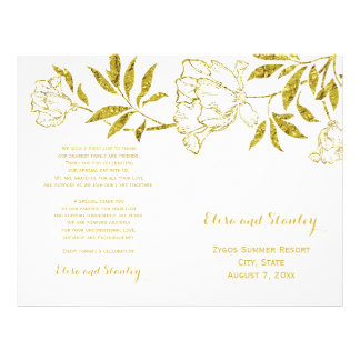 Programa doblado boda blanco de los peonies de la folleto 21,6 x 28 cm