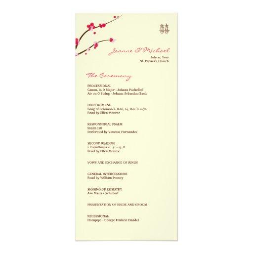 Programa doble del boda de la felicidad de la flor lona personalizada