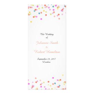 Programa el | moderno alegre del boda del confeti tarjetas publicitarias personalizadas