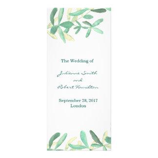 Programa el | moderno mediterráneo del boda del lona personalizada