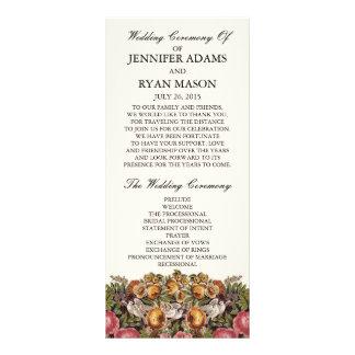Programa el | que se casa floral elegante lonas