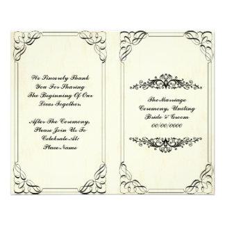programa elegante del boda del flourish folleto 11,4 x 14,2 cm