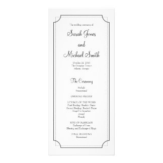 Programa elegante del boda del marco diseños de tarjetas publicitarias