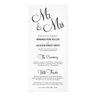 Programa elegante del boda/programa simple del lonas