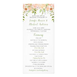 Programa extendido del boda del verdor de los