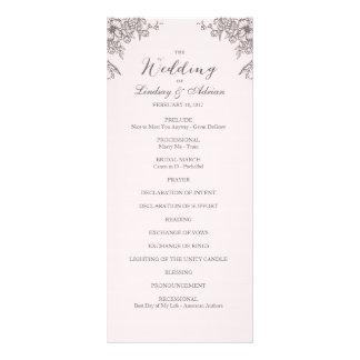 Programa floral del boda de la elegancia