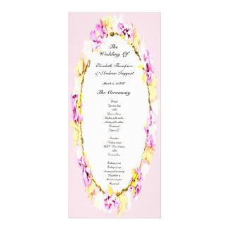 programa floral del boda de la flor suave elegante
