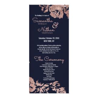 Programa floral del boda de los azules marinos y