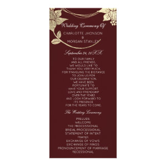 Programa floral del boda del acontecimiento del