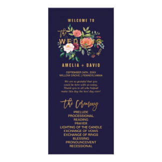 Programa floral del boda del otoño