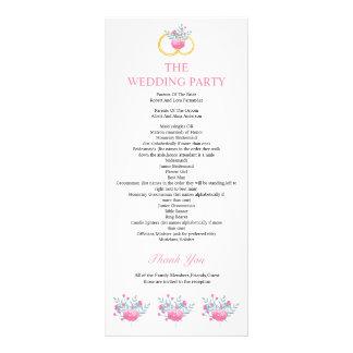 Programa floral elegante del boda