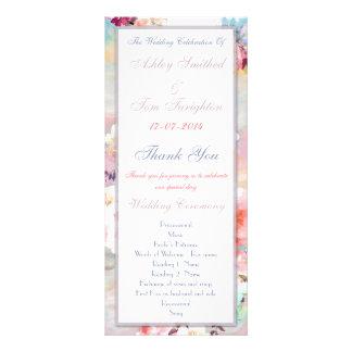 Programa floral elegante del boda de la acuarela lonas