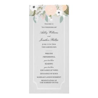 Programa floral grande del boda lona publicitaria
