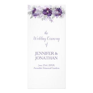 Programa floral gris del boda de la lavanda