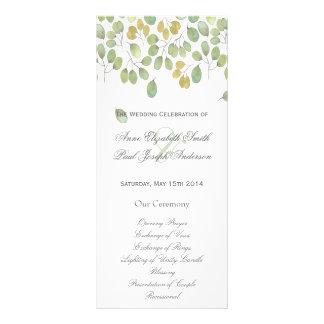 Programa floral II del boda de la naturaleza Tarjeta Publicitaria