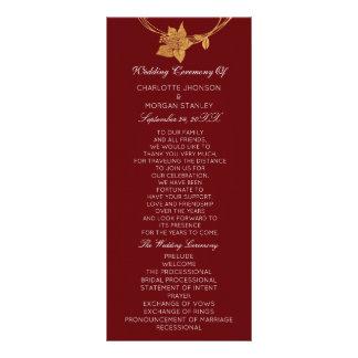 Programa floral Maroon1 del boda del