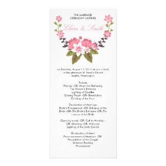 Programa floral romántico del boda