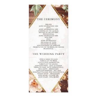 Programa floral rústico del boda de madera y del