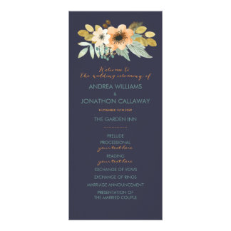 Programa floreciente de encargo del boda de la